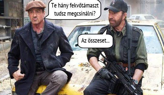 Chuck Norris: Fekvőtámasz