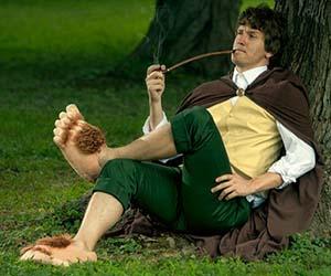 Őrült ajándék - Hobbit papucs őrült divat