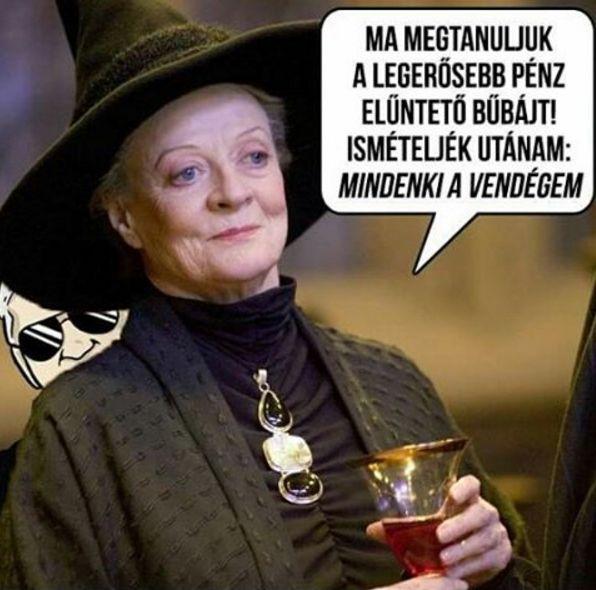 Pénz eltüntető varázslat Harry Potter módra