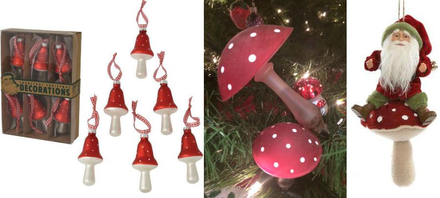 Gomba mikulás dísz díszek karácsonyi télapó gombával