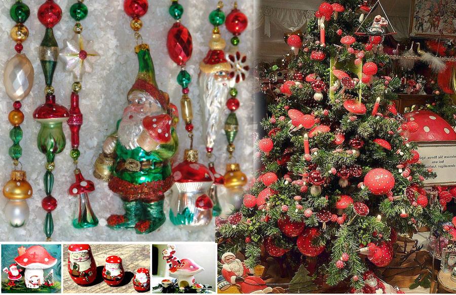 Hallucinogén pszichedelikus gomba karácsonyi díszek légyölő galóca karácson dekoráció fly agaric amanita muscaria