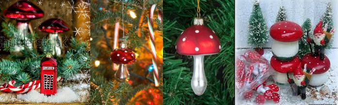 Karácsonyi gomba dekoráció dekorációk dísz díszek