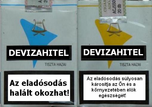 Devizahitel cigis doboz halálos figyelmeztetés