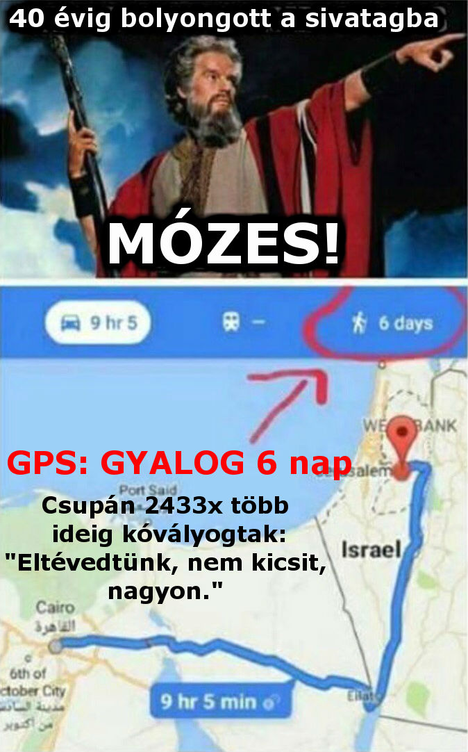 Mózes GPS !