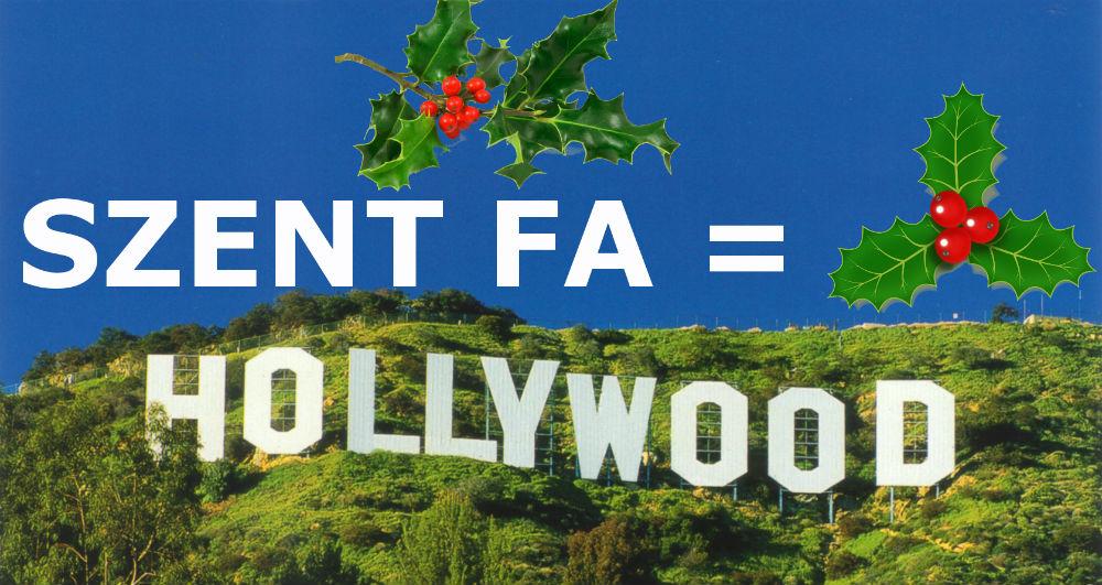 Karácsonyi holly wood szent fa Hollywood