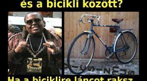 Mi a különbség a Néger és a bicikli között?