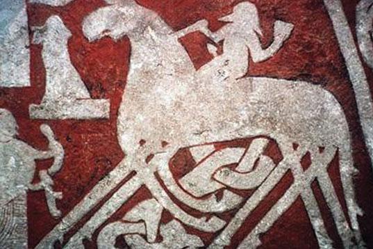 Odin 8 lábú lova télapó mikulás karácsonyi rénszarvasai
