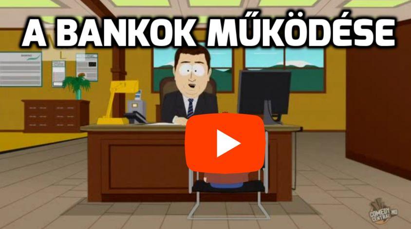 Pénz + bankrendszer South Park videó részlet South Park