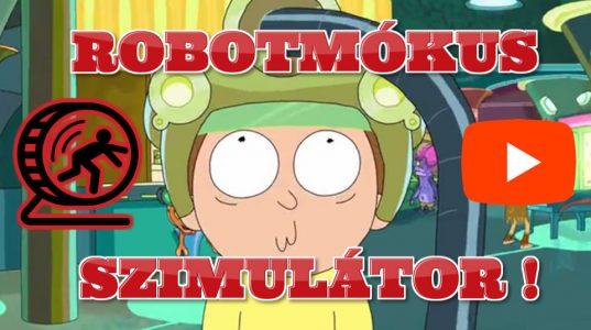 Mókuskerék Szimulátor Rick és Morty video részlet szőnyegbolt