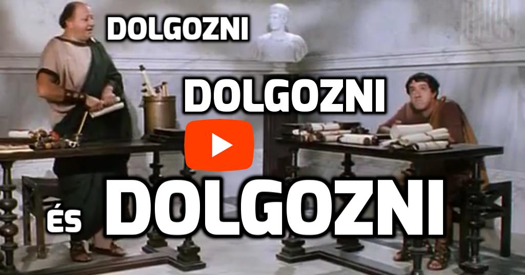 Dolgozni, dolgozni, és dolgozni..!! Lustusz videó részlet Pajzán Kalandok Rómában