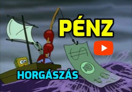 Spongyabob + Rák PÉNZT horgászik videó