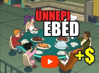 vicces ünnepi ebéd + pénz elverő delfin videó a Futurama sorozat