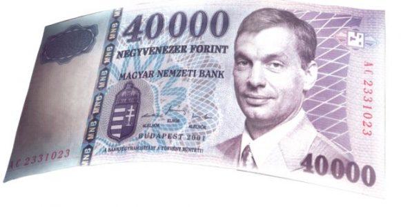 Orbán minimálbér 40 000 HUF pénz vicces kép