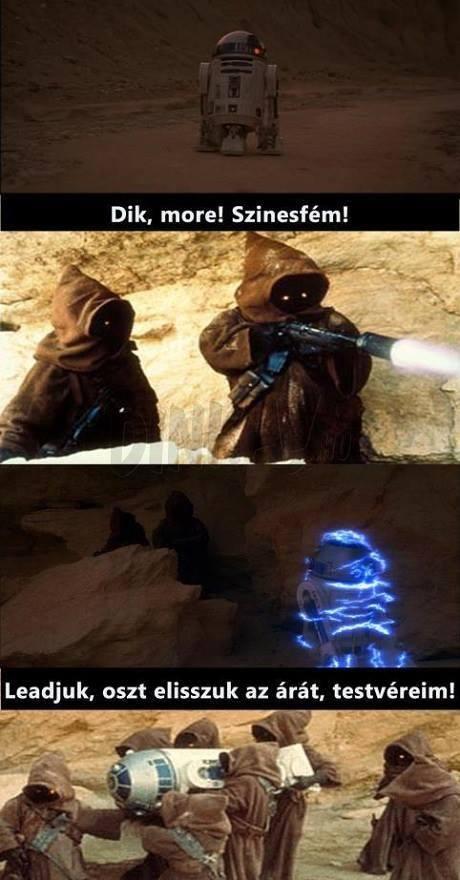 Star Wars cigány fém droid vas