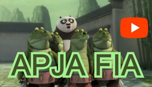 videó részlet: Kung Fu Panda sorozatból: Apa Fiú VESZEKEDÉS krokodil aligátor módra