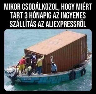 Lassú AliExpress szállítás vicces kép