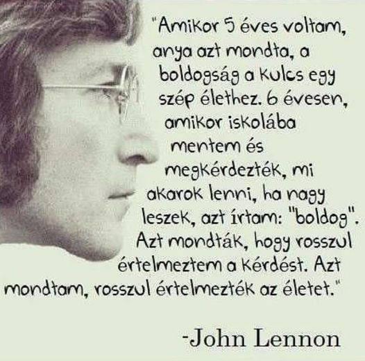 Boldogság idézet: John Lenon The Beatles gitárosától